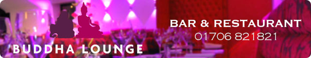 Advertising banner for Buddha Lounge Bar & Restaurant