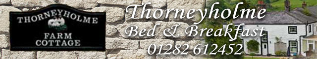 Advertising banner for Thorneyholme Bed and Breakfast in Rossendale