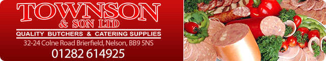 Advertising banner for Townson & Son Butchers