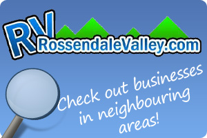 Advertising banner for Rossendale Valley